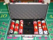 View Silver Aluminum Casino Chips Case (300)